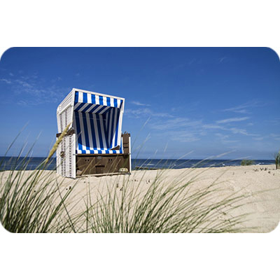 wandprint mit motiv strandkorb am meer 150cm x 100cm. Black Bedroom Furniture Sets. Home Design Ideas