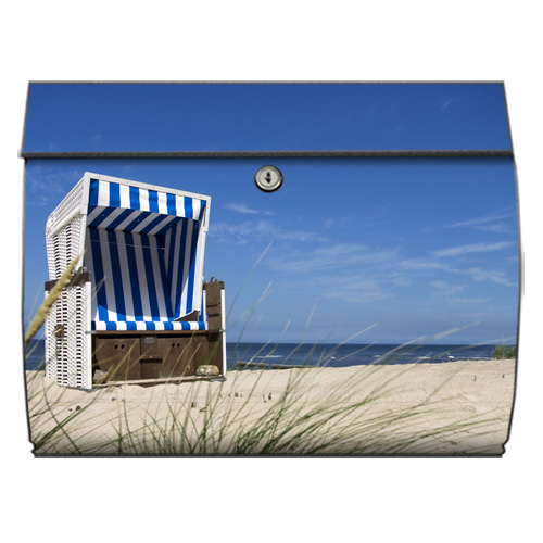 briefkasten swing mit motiv strandkorb am meer. Black Bedroom Furniture Sets. Home Design Ideas